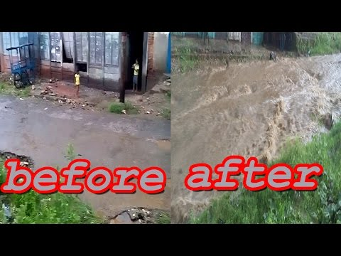 Flood on road | Road turns into river | Purano Bazar, Dharan, Nepal