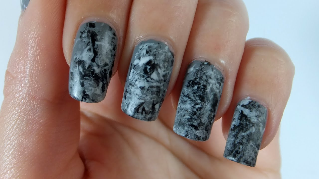 Stone Marble Nails Nail Art Tutorial