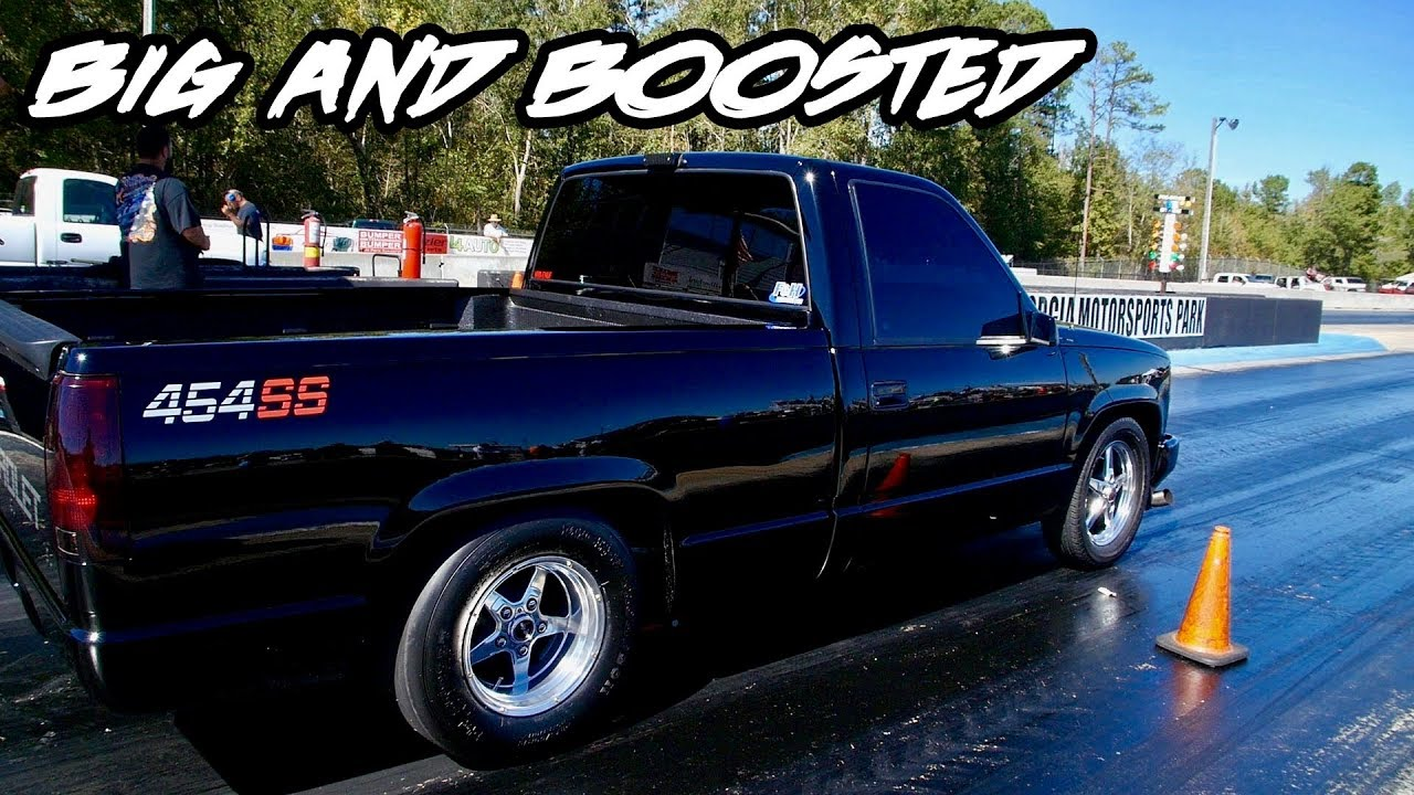 BIG AND BOOSTED! SICK 454 SS TRUCK WITH A TURBO AT TRUCK WARS 4!