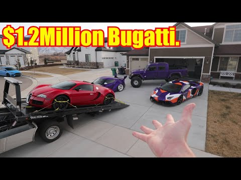 Bugatti Veyron DELIVERED to my House!