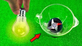 Russian Experiment - Blender VS Electric Lamp Car VS Yogurt Apple Firecracker VS Сabbage Coca Cola