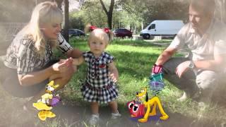 Поздравление дочки с днем рождения  на 1 годик .Happy Bithday.Ради дочки научились петь!!!
