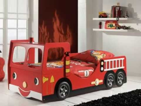 Fire truck bedroom decorating ideas - YouTube