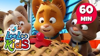 Three Little Kittens  Learn English with Songs for Children | LooLoo Kids