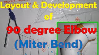 Layout and Development of 90 degree elbow miter bend(This video explain about Layout and Development of 90 degree elbow miter bend-2 cut 3 piece Type This channel explain about Reading piping isometric ..., 2016-05-22T17:23:25.000Z)