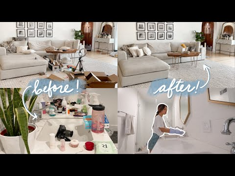 Deep Cleaning & Decluttering my *DISGUSTING* house!