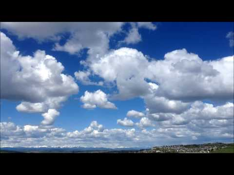 Morning D.E.W. Calming Clouds/Alberta Foothills/ Time Lapse 1