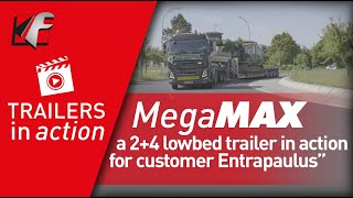 FAYMONVILLE MegaMAX: a 2+4 lowbed trailer in action for customer Entrapaulus