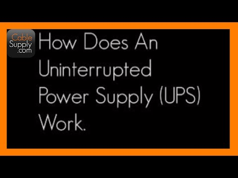 CableSupply.com Explains How Uninterrupted Power Supply Works