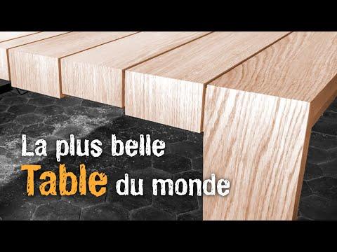 Fabriquer LA PLUS BELLE TABLE DU MONDE en bois massif ❤️ ?