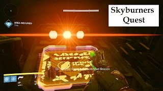 Destiny Sky Burners quest. Skyburners Command Beacon, Deployment Codes,  Security Pass