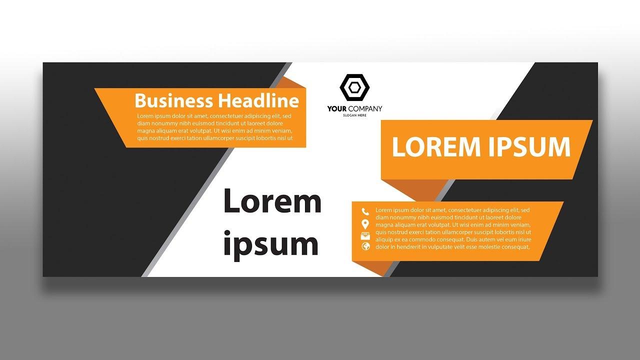 Business Facebook Cover Design In Ilrator Tutorial Photo