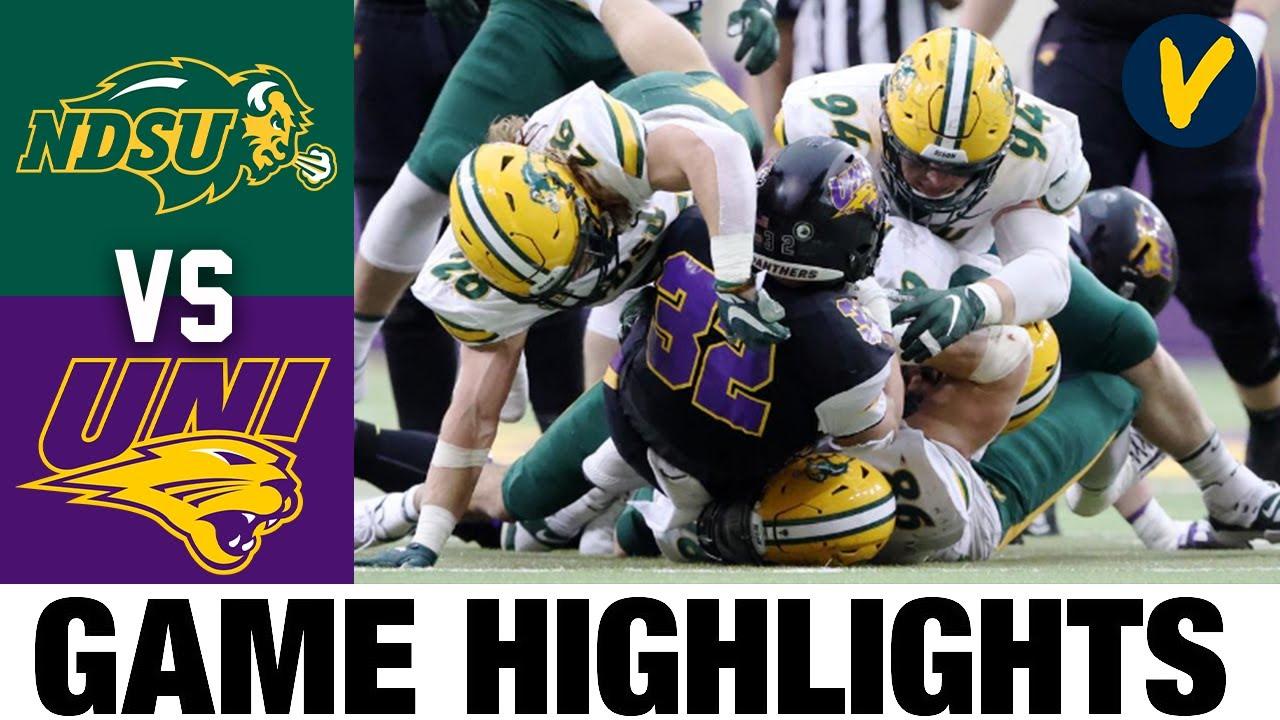 #2 North Dakota State vs #24 Northern Iowa Highlights | FCS 2021 Spring College Football Highlights