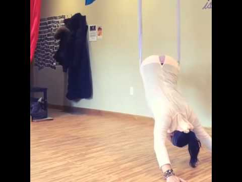 Check Out That Strength in Front Belt (Aerial Yoga)