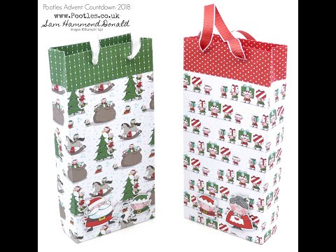 Pootles Advent Countdown 2018 #5 Santa's Workshop Gift Bag Tutorial - วันที่ 08 Oct 2018