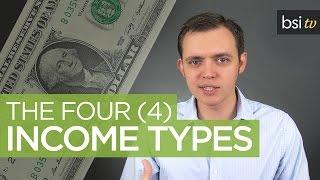 Four (4) Income Types - Ways to Make Money