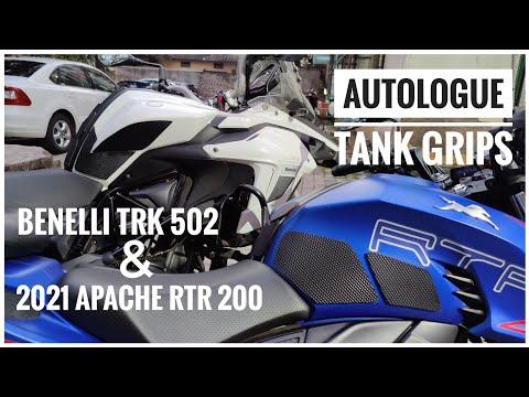 2021 TVS APACHE RTR 200 4V Modifications | Tank Grips Autologue Design | Benelli TRK 502 | DNA VLOGS