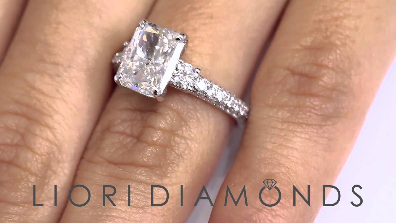 rings radiant carat cut watch youtube engagement ring diamond