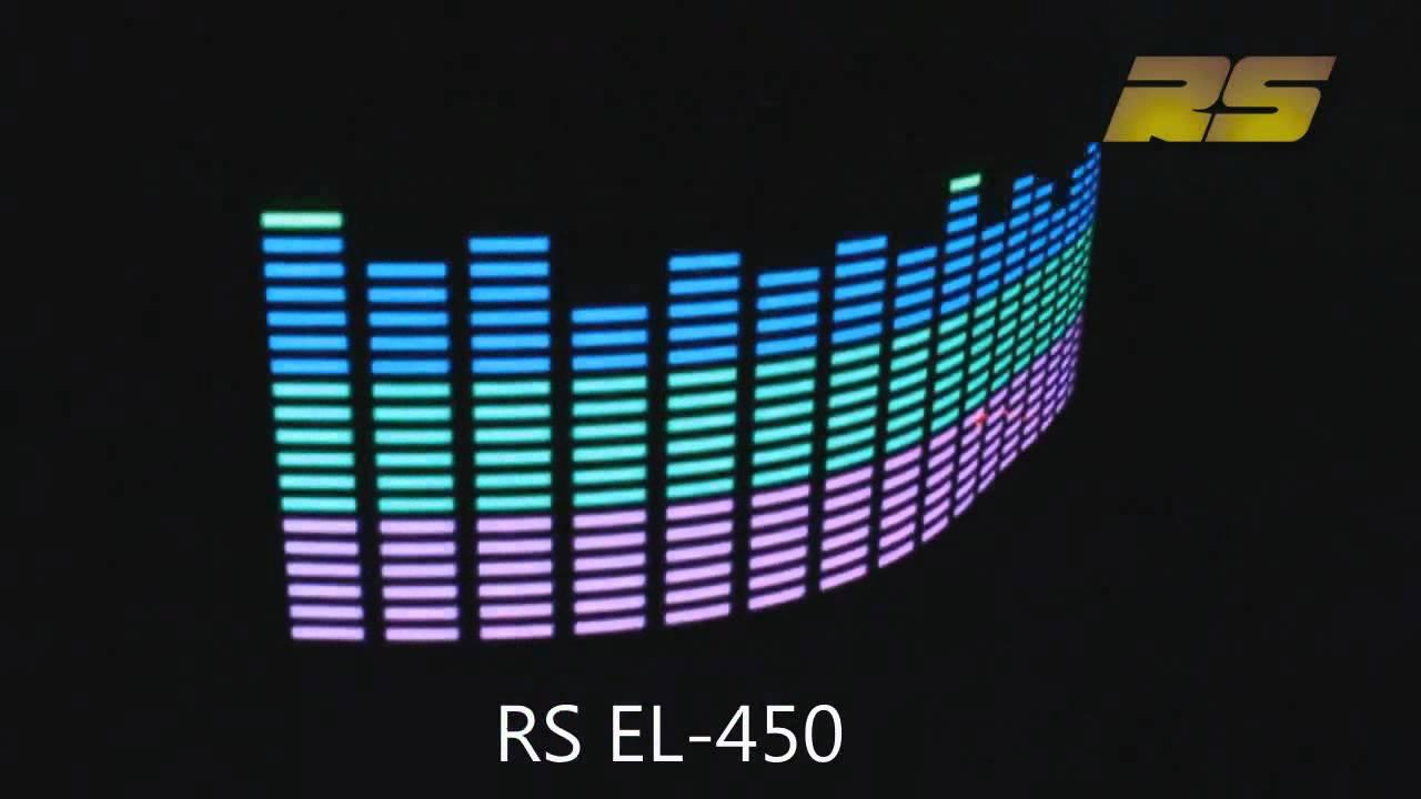Эквалайзер на стекло авто реагирует в такт музыке - YouTube