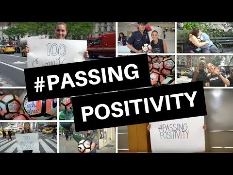 Passing Positivity With 100 Nike Balls In NYC