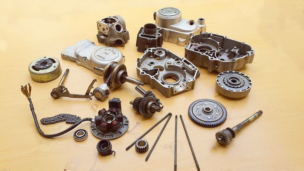 Assembling Cd 70 Sr Motorcycle Engine