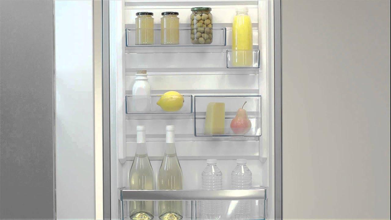 Aeg Kühlschrank Festtür Montage : Aeg kühlschrank customflex youtube