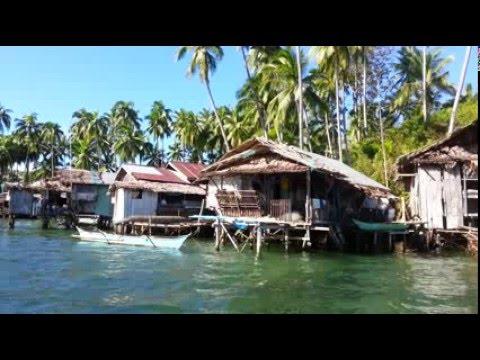 Bangka on the Enchanted River to the estuary