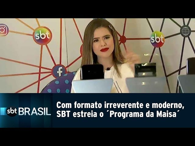 Com formato irreverente e moderno, SBT estreia o 'Programa da Maisa' | SBT Brasil (11/03/19)