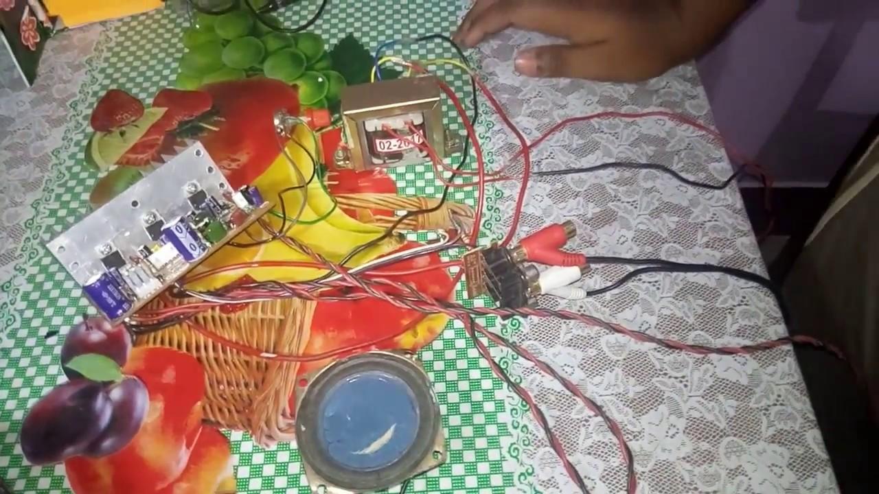 Tda 2030 Amplifier Board Wiring Test Youtube Nail