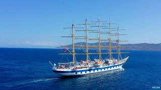 Royal Clipper | The World's Largest Sailing Ship in Greece | 4K