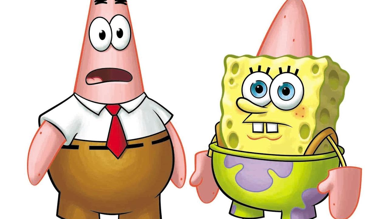Desenho Bob Esponja E Patrick Invertidos Calca Quadrada