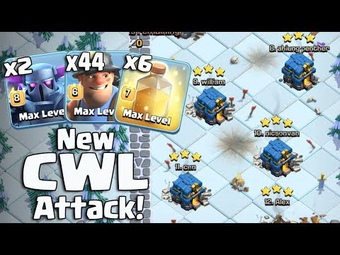 New CWL Attack Strategy 2018! 2 Max Pekka+44 Miners+6 Heal Spell Easy 3Star 3 Inferno TH12 War Base