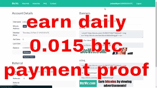 earn 0.015 btc daily   payment proof   surf ads 10/15 sec     btcvic