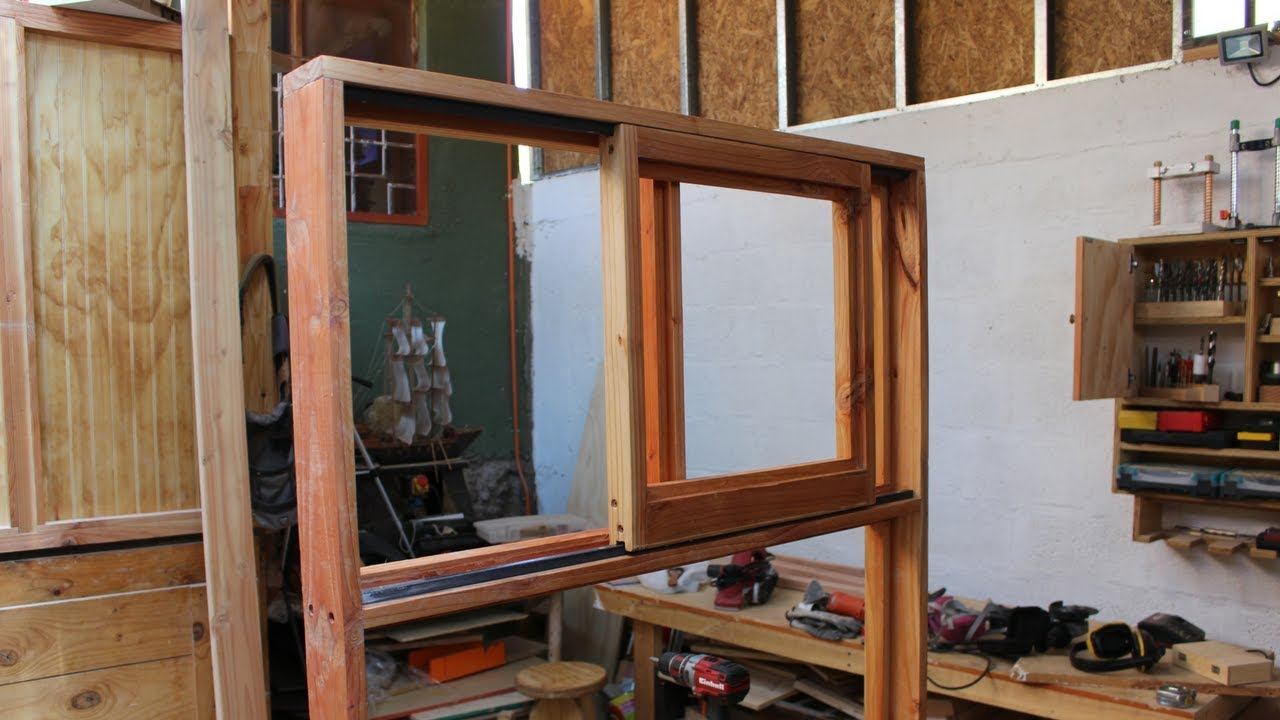 Como construir una ventana de corredera parte 2 youtube for Construir puerta corredera