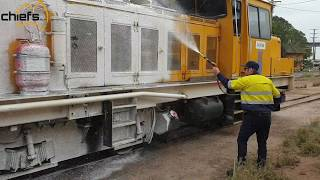 Maintenance Clean on a locomotive