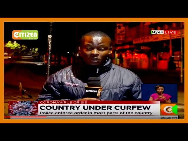 Nyeri streets deserted as locals heed the order