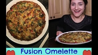 Easy & Tasty Fusion Omelette Recipe | Spanish+American+Indian | Food is Life