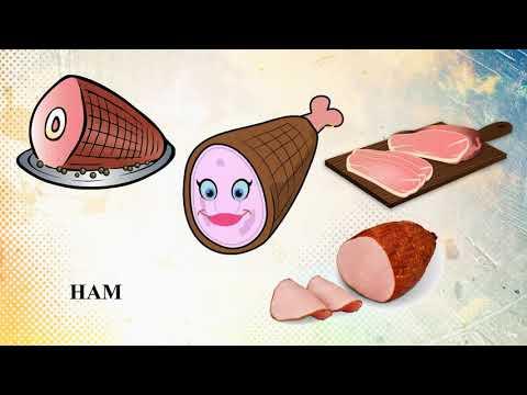 Еда Мультфильм английский для детей, обучение, английский язык для малышей