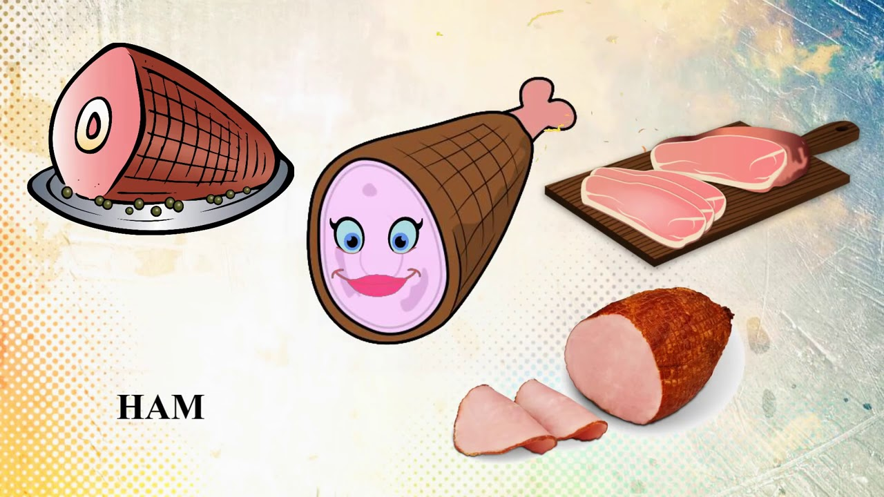 Еда Мультфильм английский для детей, обучение, английский ...