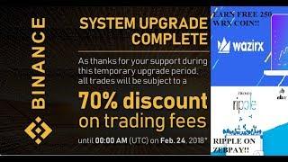 Binance not hacked!! || Ripple on Zebpay || Earn free 250 WRX Coin || by Crypto Phoenix