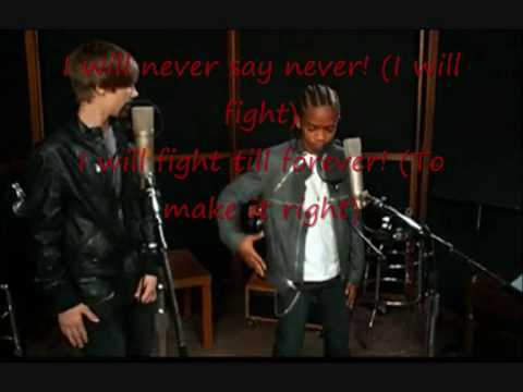 Justin Bieber-Never Say Never ft. Jaden Smith With Lyrics