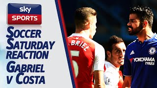 Here's how jeff stelling and alan mcinally reacted to gabriel being sent off costa remaining on the pitch during chelsea's 2-0 win over arsenal. what did...