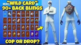 "RETURNED ""WILD CARD"" SKIN Showcased With 90+ BACK BLINGS! Fortnite Battle Royale (WILD CARD COMBOS)"