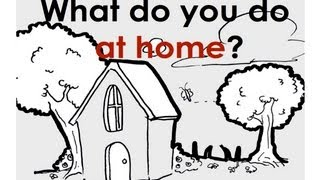 At Home. Adverb, Usually.  Easy English Conversation Practice. ESL. thumbnail
