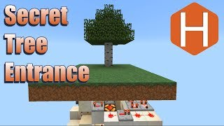 Secret Tree Door Entrance Minecraft Tutorial