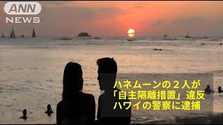 ハワイ 新婚旅行カップルを逮捕~到着後14日間の自主隔離措置を無視しピザを買いに外出で(2020/05/05)