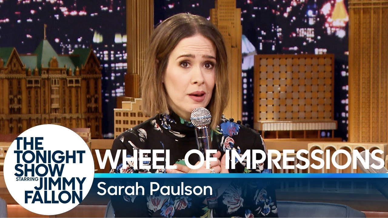 Wheel Of Impressions With Sarah Paulson YouTube - Comedian absolutely nails celebrity impressions