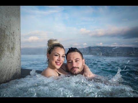 Bachelor Clive und Sanja im Spa