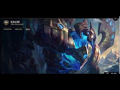 Enchanted Galio Skin Spotlight ( Champion Rework ) Update 2017 - League of Legends