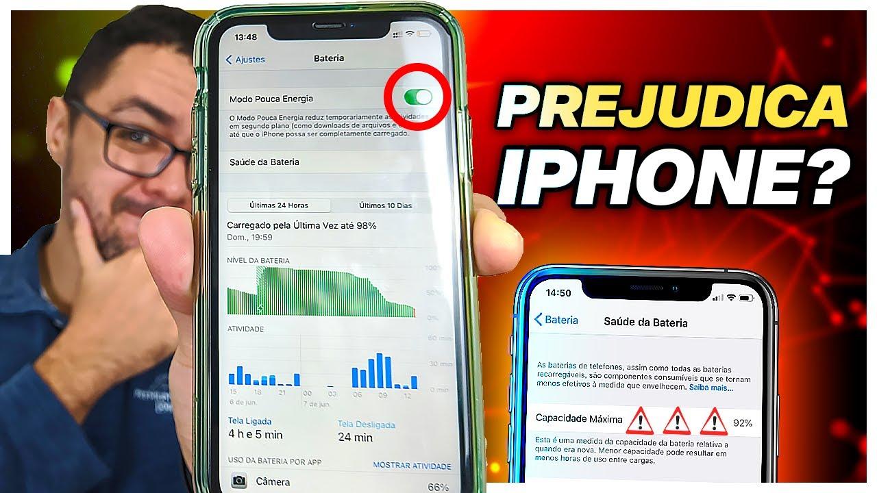 Modo POUCA ENERGIA do iPhone ESTRAGA e VICIA a Bateria Mesmo?